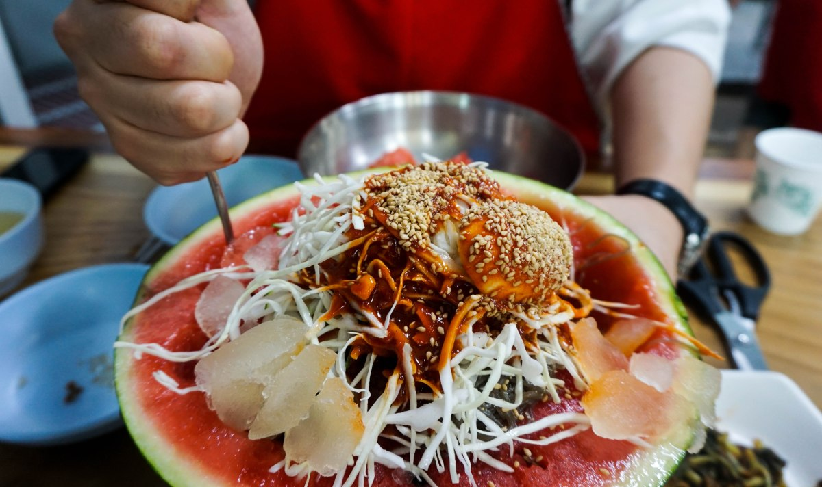 Watermelon Cold Noodles (수박 냉면)